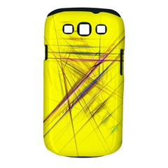 Fractal Color Parallel Lines On Gold Background Samsung Galaxy S Iii Classic Hardshell Case (pc+silicone)