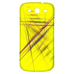 Fractal Color Parallel Lines On Gold Background Samsung Galaxy S3 S III Classic Hardshell Back Case