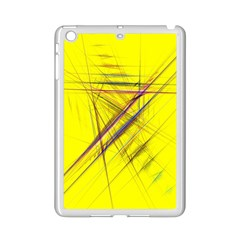Fractal Color Parallel Lines On Gold Background iPad Mini 2 Enamel Coated Cases
