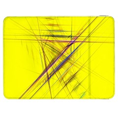 Fractal Color Parallel Lines On Gold Background Samsung Galaxy Tab 7  P1000 Flip Case