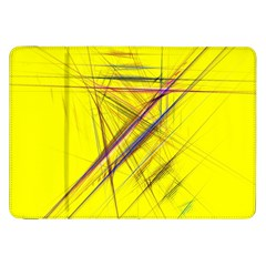 Fractal Color Parallel Lines On Gold Background Samsung Galaxy Tab 8 9  P7300 Flip Case