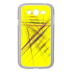 Fractal Color Parallel Lines On Gold Background Samsung Galaxy Grand Duos I9082 Case (white)