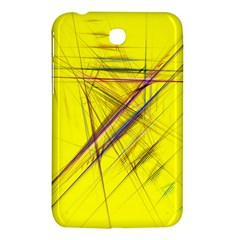 Fractal Color Parallel Lines On Gold Background Samsung Galaxy Tab 3 (7 ) P3200 Hardshell Case