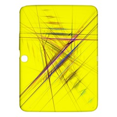 Fractal Color Parallel Lines On Gold Background Samsung Galaxy Tab 3 (10.1 ) P5200 Hardshell Case