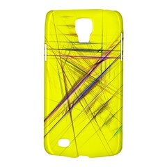 Fractal Color Parallel Lines On Gold Background Galaxy S4 Active