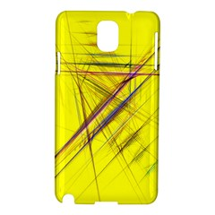 Fractal Color Parallel Lines On Gold Background Samsung Galaxy Note 3 N9005 Hardshell Case