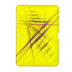 Fractal Color Parallel Lines On Gold Background Samsung Galaxy Tab 2 (10 1 ) P5100 Hardshell Case