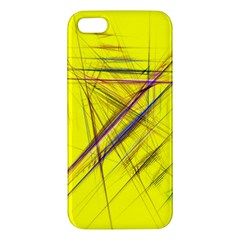 Fractal Color Parallel Lines On Gold Background Iphone 5s/ Se Premium Hardshell Case