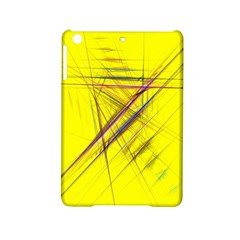 Fractal Color Parallel Lines On Gold Background Ipad Mini 2 Hardshell Cases