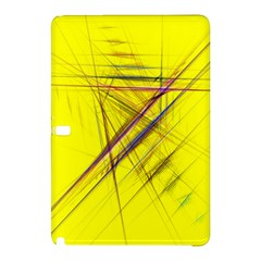 Fractal Color Parallel Lines On Gold Background Samsung Galaxy Tab Pro 12 2 Hardshell Case