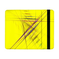 Fractal Color Parallel Lines On Gold Background Samsung Galaxy Tab Pro 8.4  Flip Case