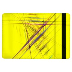 Fractal Color Parallel Lines On Gold Background iPad Air Flip