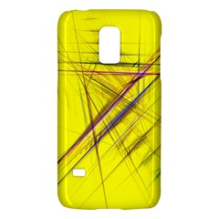 Fractal Color Parallel Lines On Gold Background Galaxy S5 Mini
