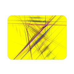 Fractal Color Parallel Lines On Gold Background Double Sided Flano Blanket (Mini)