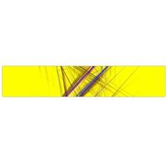 Fractal Color Parallel Lines On Gold Background Flano Scarf (Large)