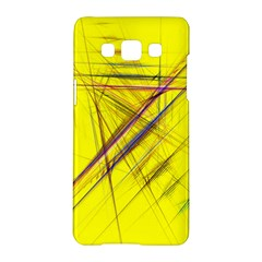 Fractal Color Parallel Lines On Gold Background Samsung Galaxy A5 Hardshell Case