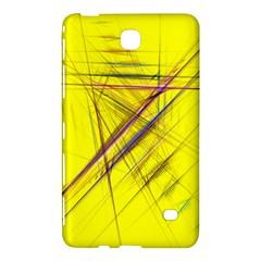Fractal Color Parallel Lines On Gold Background Samsung Galaxy Tab 4 (7 ) Hardshell Case