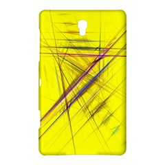 Fractal Color Parallel Lines On Gold Background Samsung Galaxy Tab S (8 4 ) Hardshell Case