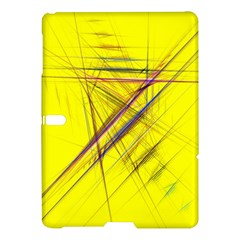 Fractal Color Parallel Lines On Gold Background Samsung Galaxy Tab S (10.5 ) Hardshell Case