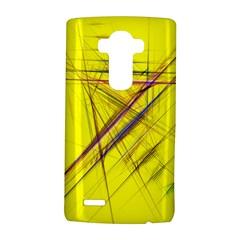 Fractal Color Parallel Lines On Gold Background Lg G4 Hardshell Case