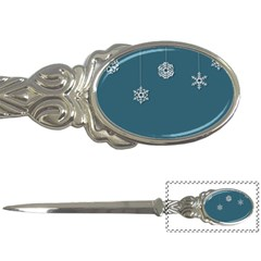 Blue Snowflakes Christmas Trees Letter Openers