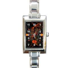 Fractal Wallpaper With Dancing Planets On Black Background Rectangle Italian Charm Watch