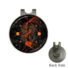 Fractal Wallpaper With Dancing Planets On Black Background Hat Clips With Golf Markers