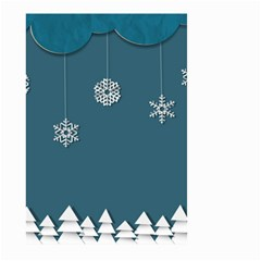 Blue Snowflakes Christmas Trees Large Garden Flag (Two Sides)