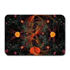 Fractal Wallpaper With Dancing Planets On Black Background Plate Mats