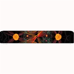 Fractal Wallpaper With Dancing Planets On Black Background Small Bar Mats