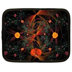 Fractal Wallpaper With Dancing Planets On Black Background Netbook Case (large)
