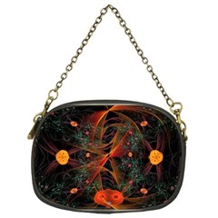 Fractal Wallpaper With Dancing Planets On Black Background Chain Purses (one Side)