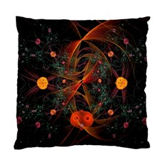 Fractal Wallpaper With Dancing Planets On Black Background Standard Cushion Case (one Side)