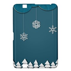 Blue Snowflakes Christmas Trees Kindle Fire HD 8.9