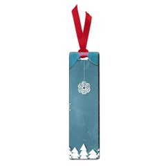 Blue Snowflakes Christmas Trees Small Book Marks