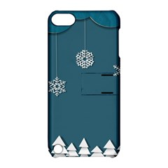 Blue Snowflakes Christmas Trees Apple iPod Touch 5 Hardshell Case with Stand