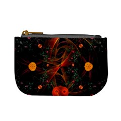 Fractal Wallpaper With Dancing Planets On Black Background Mini Coin Purses
