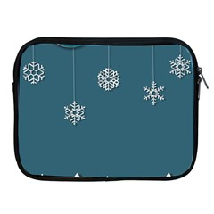 Blue Snowflakes Christmas Trees Apple iPad 2/3/4 Zipper Cases