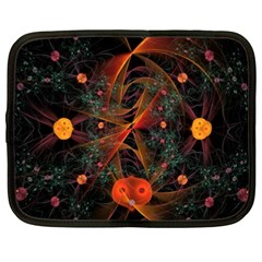 Fractal Wallpaper With Dancing Planets On Black Background Netbook Case (XXL)
