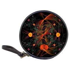 Fractal Wallpaper With Dancing Planets On Black Background Classic 20-CD Wallets