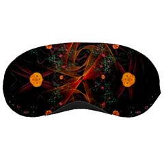 Fractal Wallpaper With Dancing Planets On Black Background Sleeping Masks