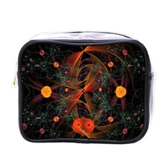 Fractal Wallpaper With Dancing Planets On Black Background Mini Toiletries Bags