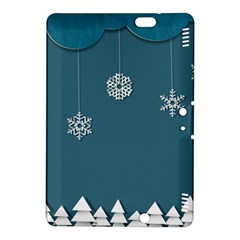 Blue Snowflakes Christmas Trees Kindle Fire HDX 8.9  Hardshell Case