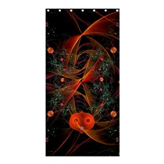 Fractal Wallpaper With Dancing Planets On Black Background Shower Curtain 36  x 72  (Stall)