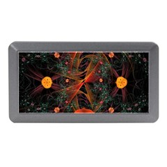 Fractal Wallpaper With Dancing Planets On Black Background Memory Card Reader (Mini)