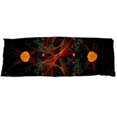 Fractal Wallpaper With Dancing Planets On Black Background Body Pillow Case Dakimakura (two Sides)
