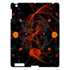Fractal Wallpaper With Dancing Planets On Black Background Apple iPad 3/4 Hardshell Case