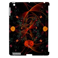 Fractal Wallpaper With Dancing Planets On Black Background Apple Ipad 3/4 Hardshell Case (compatible With Smart Cover)