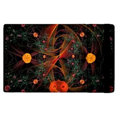 Fractal Wallpaper With Dancing Planets On Black Background Apple Ipad 2 Flip Case