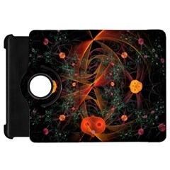 Fractal Wallpaper With Dancing Planets On Black Background Kindle Fire Hd 7